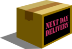 Free Stock Photo: Illustration of a next day delivery package