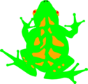 Free Stock Photo: Illustration of a bright green frog.
