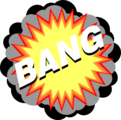 Free Stock Photo: Illustration of an explosion with bang text
