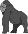 Free Stock Photo: Illustration of a gorilla.