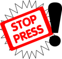 Free Stock Photo: Illustration of stop the press text