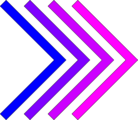 Free Stock Photo: Illustration of blue and purple right arrows