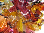 Free Stock Photo: Closeup of a glass sculpture.