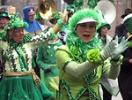 Free Stock Photo: People marching in the 2009 Atlanta Saint Patricks Day Parade