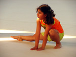 Free Stock Photo: A young Indian girl doing gymnastics