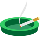 Free Stock Photo: Illustration of a cigarette in an ashtray