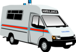 Free Stock Photo: Illustration of an ambulance