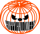 Free Stock Photo: Illustration of a jack-o-lantern with halloween text