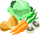 Free Stock Photo: Illustration of assorted vegetables
