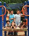 Free Stock Photo: A group of latino kids posing on a playground