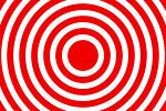 Free Stock Photo: A red and white bullseye design