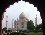 Free Stock Photo: The Taj Mahal in India.