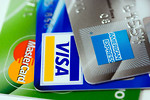 Free Stock Photo: Close-up of three credit cards