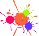 Free Stock Photo: Illustration of paint splatters