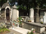Free Stock Photo: Graves at Pere-Lachaise cemetary