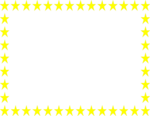 Free Stock Photo: Illustration of a blank frame border of yellow stars