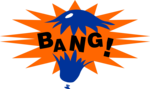 Free Stock Photo: Illustration of a balloon popping with bang text