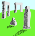Free Stock Photo: Illustration of Stonehenge in England