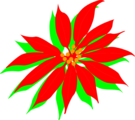 Free Stock Photo: Illustration of a red poinsettia flower.