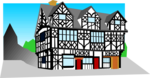 Free Stock Photo: Illustration of a tudor style building