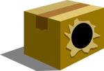 Free Stock Photo: Illustration of a box with a hole in it