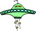 Free Stock Photo: Illustration of a flying saucer.