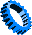 Free Stock Photo: Illustration of a blue gear
