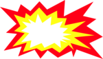 Free Stock Photo: Illustration of a yellow and red burst