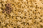 Free Stock Photo: Close-up of round and star shaped breakfast cereal