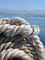 Free Stock Photo: Close-up of rope by the ocean