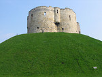 Free Stock Photo: Cliffords Tower on top of a hill in York