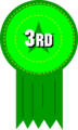 Free Stock Photo: Illustration of 3rd place ribbon