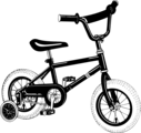 Free Stock Photo: Illustration of a bike with training wheels