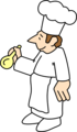 Free Stock Photo: Illustration of a chef with a spoon
