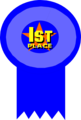 Free Stock Photo: Illustration of a 1st place ribbon