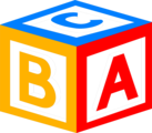 Free Stock Photo: Illustration of a block with abc