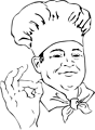 Free Stock Photo: Illustration of a chef making an ok hand gesture.