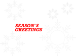 Free Stock Photo: Illustration of snowflakes and seasons greetings text