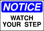 Free Stock Photo: Illustration of watch your step warning sign