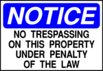 Free Stock Photo: Illustration of a no trespassing notice sign