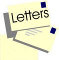 Free Stock Photo: Illustration of a stack of letters