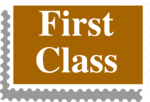 Free Stock Photo: Illustration of a first class stamp with text