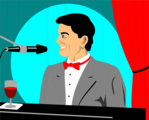 Free Stock Photo: Illustration of a man playing a piano