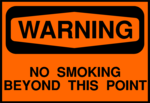 Free Stock Photo: Illustration of a no smoking warning sign