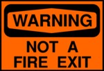 Free Stock Photo: Illustration of no fire exit warning sign.