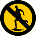 Free Stock Photo: Illustration of a no running symbol