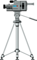 Free Stock Photo: Illustration of a video camera on a tripod