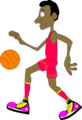 Free Stock Photo: Illustration of a basketball player