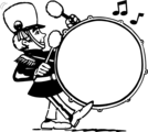 Free Stock Photo: Illustration of a drummer in a marching band