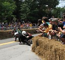Free Stock Photo: A crashing race car at the 2009 Red Bull Soap Box Derby in Atlanta, Georgia